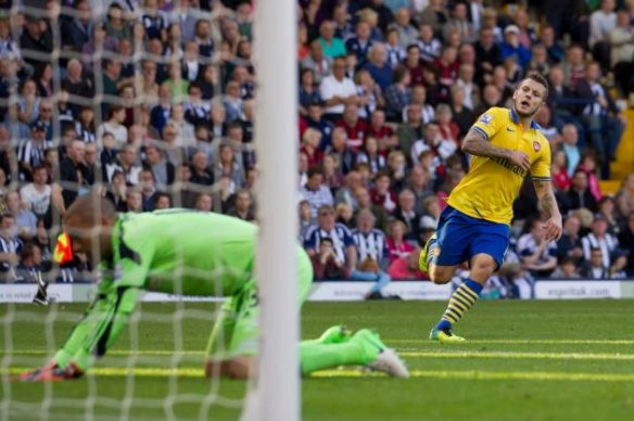 Jack Wilshere Scores Against West Brom