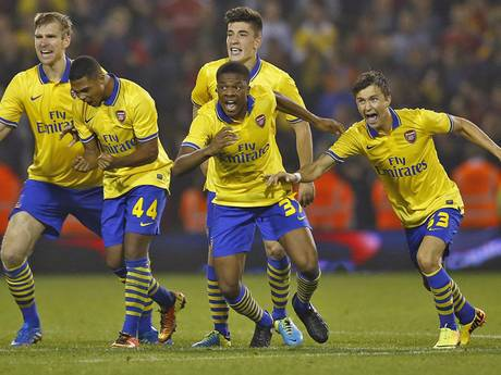 Young Guns Celebrate Penalty Shoot-Out Win