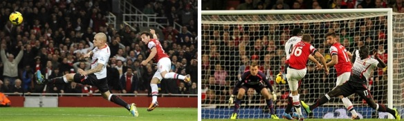 Cazorla and Ramsey Score Against Liverpool