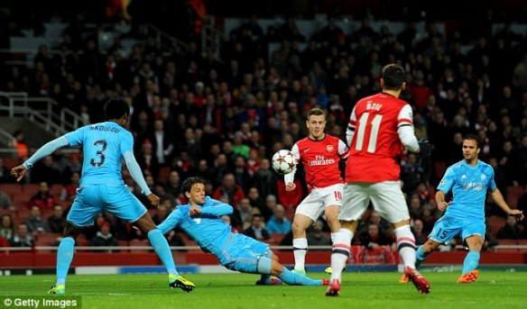 Wilshere Scores His First Against Marseille