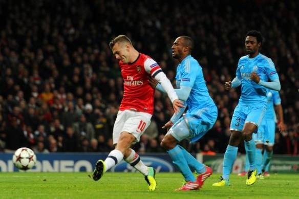 Wilshere Scores His Second Against Marseille