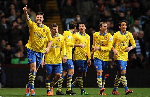Arsenal Return Top With Victory at Villa Park