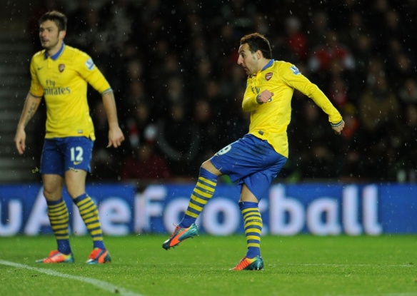 Cazorla Scores His Fifth Goal In Five Games