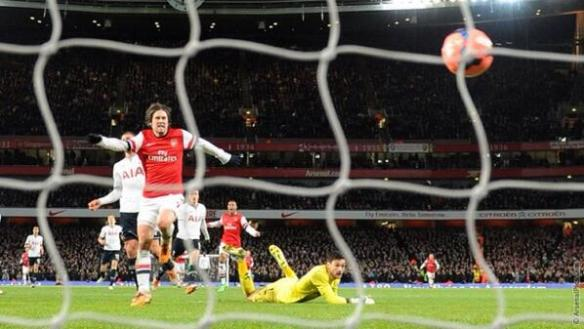 Tomas Rosicky Scores His Goal Against The Enemy