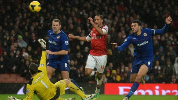 Walcott Secures Victory Against Cardiff City