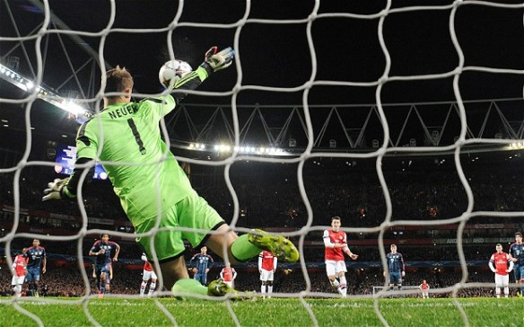 Neuer Saves Ozil's Penalty