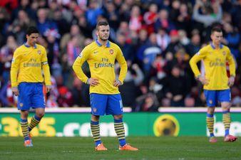 Arsenal Players Look Despondent