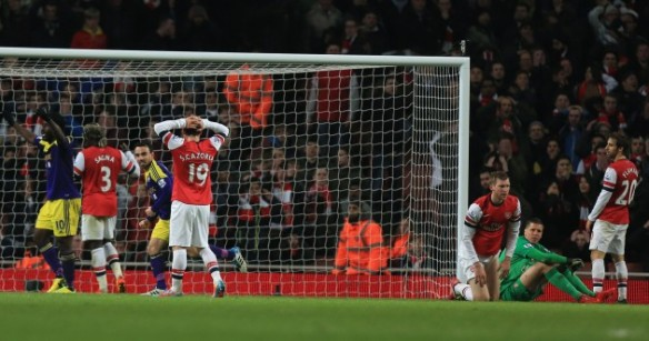 Deflatted Arsenal Players After Late Swansea Equaliser