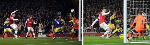 Podolski Scores The First Then Turns Provider For Giroud