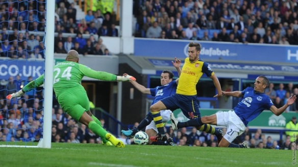 Ramsey gets us back in the game at Goodison Park