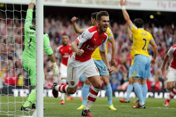 Ramsey scores the winner against Crystal Palace