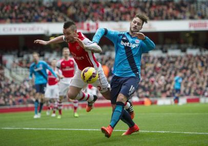 Debuchy is needlessly fouled resulting in a dislocated shoulder