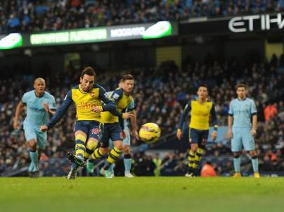 Man of the Match Santi Cazorla gives Arsenal the lead