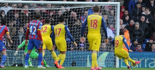 Cazorla gives us the lead from the penalty spot against Palace