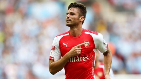 Olivier Giroud - Playing for the cannon on his chest